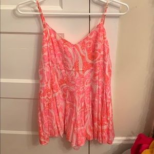 Lilly Pulitzer Kyla Romper Pink Pout